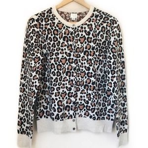 A NEW DAY Leopard Print Cardigan Sweater Camel M